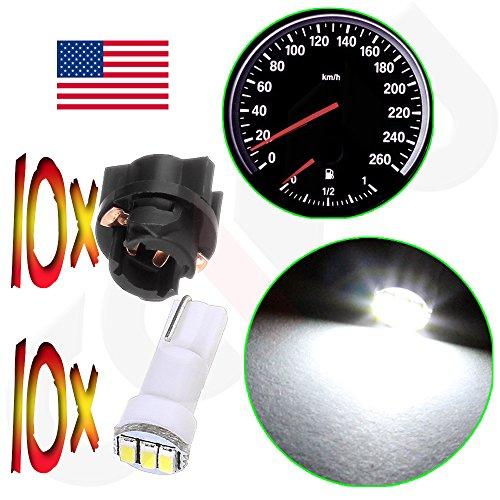 60x T5 74 Led Dashboard Speedometer Gauge Indicator Light: CCIYU (10) Twist Lock 3-3014SMD T5 Instrument Cluster